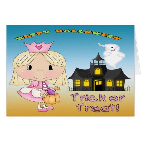 Tarjeta de la princesa felicitación de Halloween