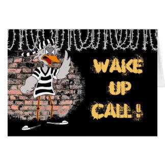 Tarjeta de la prisión: ¡Despierte la llamada!
