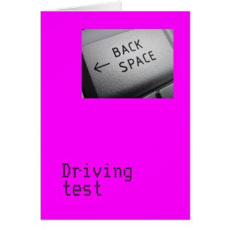 Tarjeta de la prueba de conducción