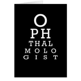 Tarjeta de la prueba de Vision de la carta de ojo