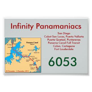 Tarjeta de la puerta de Panamaniacs del infinito Fotografias