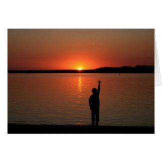 Tarjeta de la puesta del sol de SLG