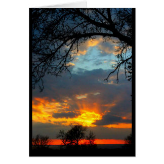 Tarjeta de la puesta del sol del Winnebago del