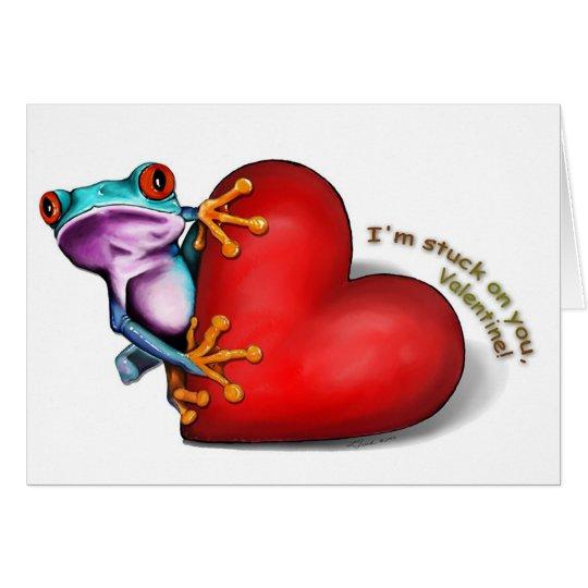 tarjeta de la rana de la tarjeta del día de San