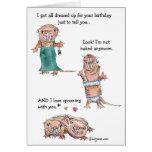 Tarjeta de la rata de topo desnudo del feliz cumpl