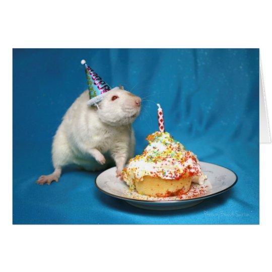 Tarjeta de la rata del feliz cumpleaños