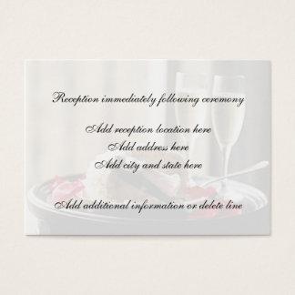 Tarjeta de la recepción de la celebración del boda