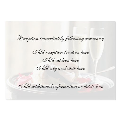 Tarjeta de la recepción de la celebración del boda plantilla de tarjeta personal