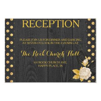 Tarjeta de la recepción de la chispa y del brillo invitación 8,9 x 12,7 cm