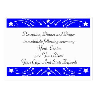 Tarjeta de la recepción de la estrella tarjetas de visita grandes