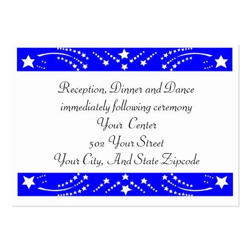 Tarjeta de la recepción de la estrella tarjetas de visita