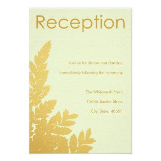 Tarjeta de la recepción de la hoja de oro