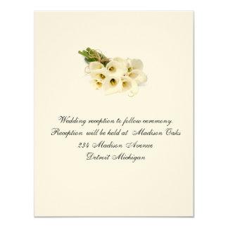 Tarjeta de la recepción de la invitación del boda invitación 10,8 x 13,9 cm