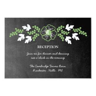 Tarjeta de la recepción de la pizarra y de las invitación 8,9 x 12,7 cm