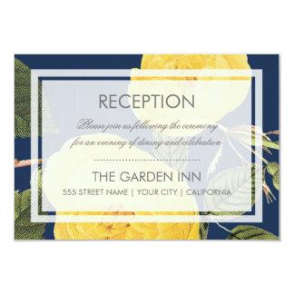 Tarjeta de la recepción de la rosaleda del vintage invitación 8,9 x 12,7 cm
