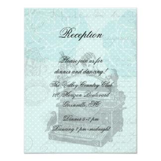 Tarjeta de la recepción de las letras de amor del invitación 10,8 x 13,9 cm