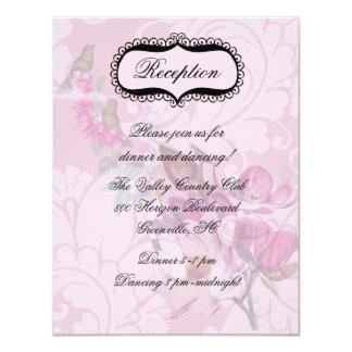 Tarjeta de la recepción de las magnolias de los invitación 10,8 x 13,9 cm