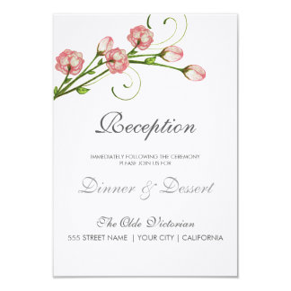 Tarjeta de la recepción de los rosas del jardín invitación 8,9 x 12,7 cm