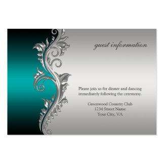 Tarjeta de la recepción del negro de la plata del  tarjeta de negocio