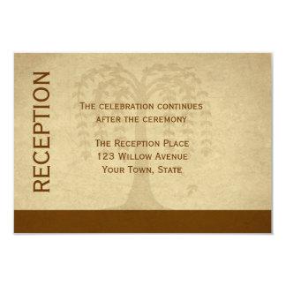 Tarjeta de la recepción del sauce del otoño invitación 8,9 x 12,7 cm