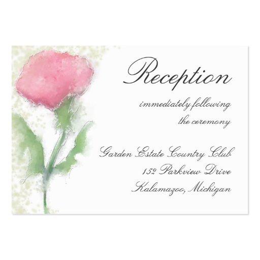 Tarjeta de la recepción - flor rosada tarjeta de negocio