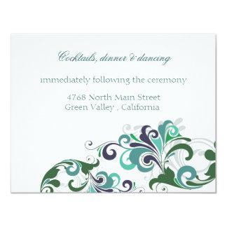 Tarjeta de la recepción invitaciones personalizada