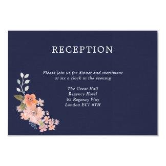Tarjeta de la recepción nupcial de la acuarela de invitación 8,9 x 12,7 cm