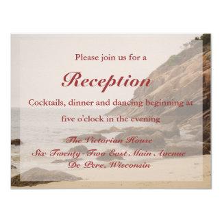 Tarjeta de la recepción nupcial de la playa - invitación 10,8 x 13,9 cm