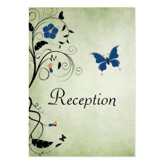 Tarjeta de la recepción nupcial de las flores y de tarjetas de visita grandes