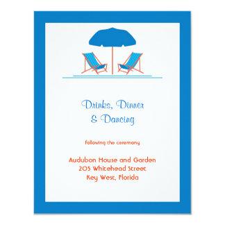 Tarjeta de la recepción nupcial de las sillas de invitación 10,8 x 13,9 cm