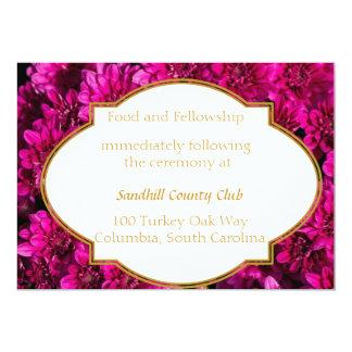Tarjeta de la recepción nupcial de los crisantemos anuncio