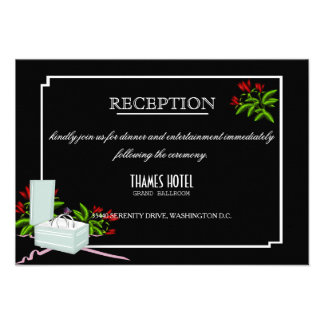 Tarjeta de la recepción nupcial de los rosas invitaciones personalizada
