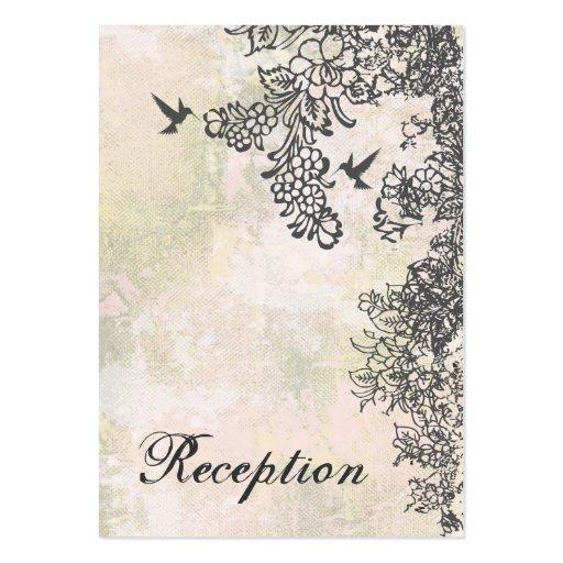 Tarjeta de la recepción nupcial del colibrí y de l tarjetas personales