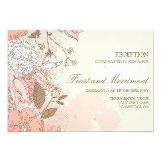 Tarjeta de la recepción nupcial del jardín de flor invitación