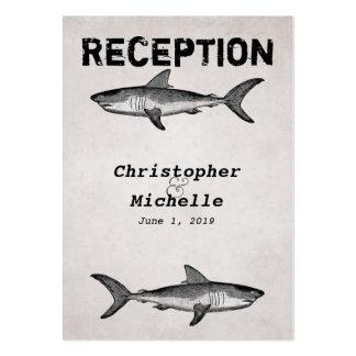 Tarjeta de la recepción nupcial del océano del tib plantillas de tarjeta de negocio