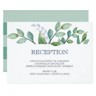 Tarjeta de la recepción nupcial del VERDOR Invitación 8,9 X 12,7 Cm