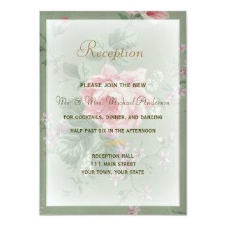 Tarjeta de la recepción para el boda color de rosa invitación 11,4 x 15,8 cm