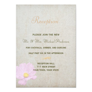Tarjeta de la recepción para el boda simple del invitación 11,4 x 15,8 cm