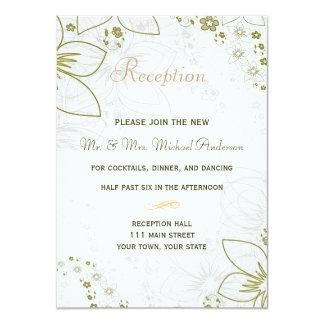 Tarjeta de la recepción para el verde y el boda invitación 11,4 x 15,8 cm