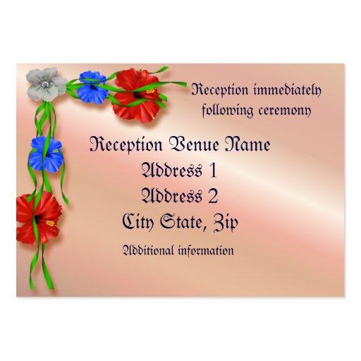 Tarjeta de la recepción plantilla de tarjeta de visita