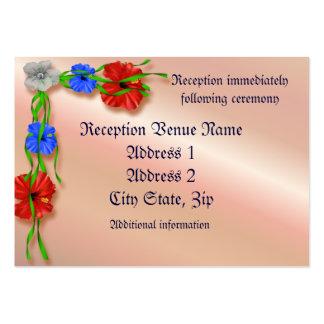 Tarjeta de la recepción tarjetas de visita grandes