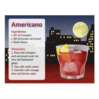 Tarjeta de la receta de Americano