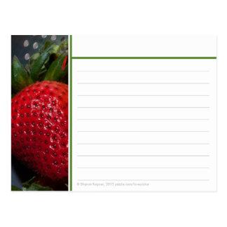 Tarjeta de la receta de la fresa