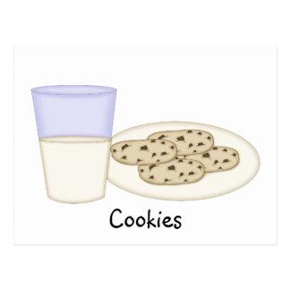 Tarjeta de la receta de las galletas postal