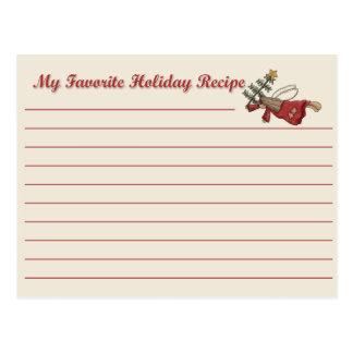 Tarjeta de la receta del ángel del día de fiesta tarjeta postal