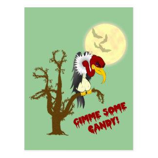 Tarjeta de la receta del halcón de Halloween Postal