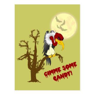 Tarjeta de la receta del halcón de Halloween Postales