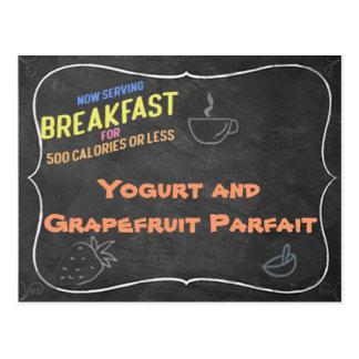 Tarjeta de la receta del postre helado del yogur y