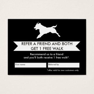 Tarjeta De Visita Tarjeta de la remisión del caminante del perro -