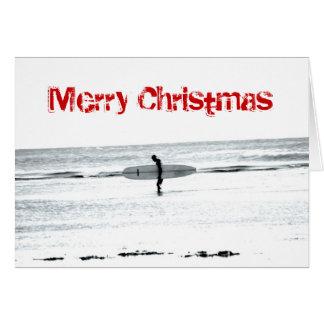 Tarjeta de la resaca de las Felices Navidad